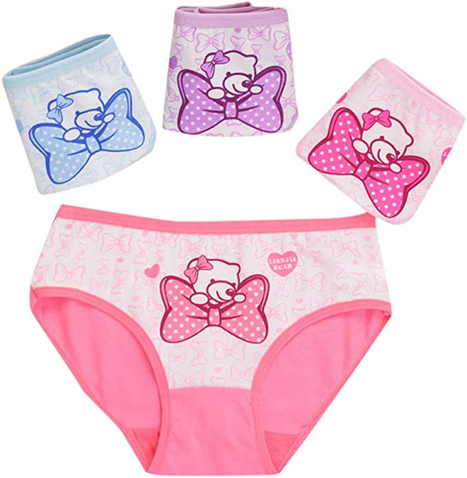 Mitlfuny 4 Pack Braguitas Infantil Ropa Interior Transpirable ...
