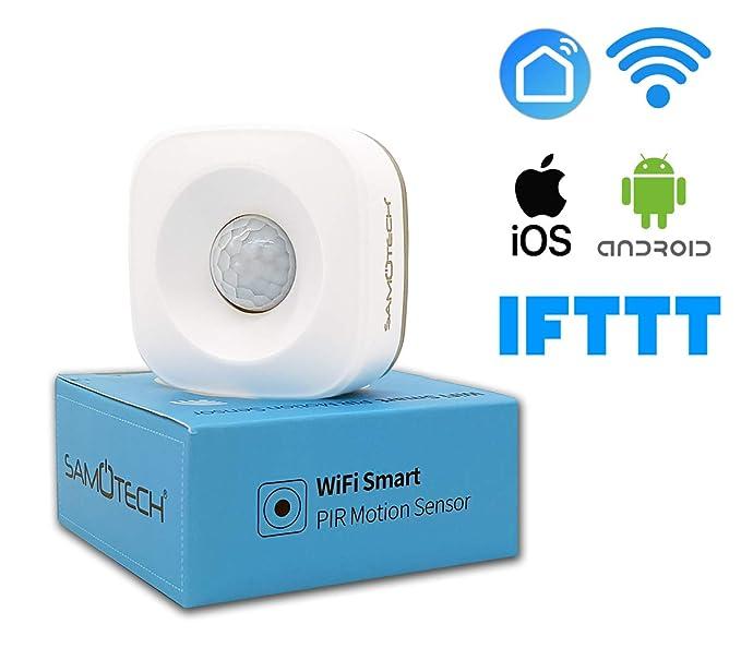 Samotech® Sensor de Movimiento PIR Inteligente WiFi