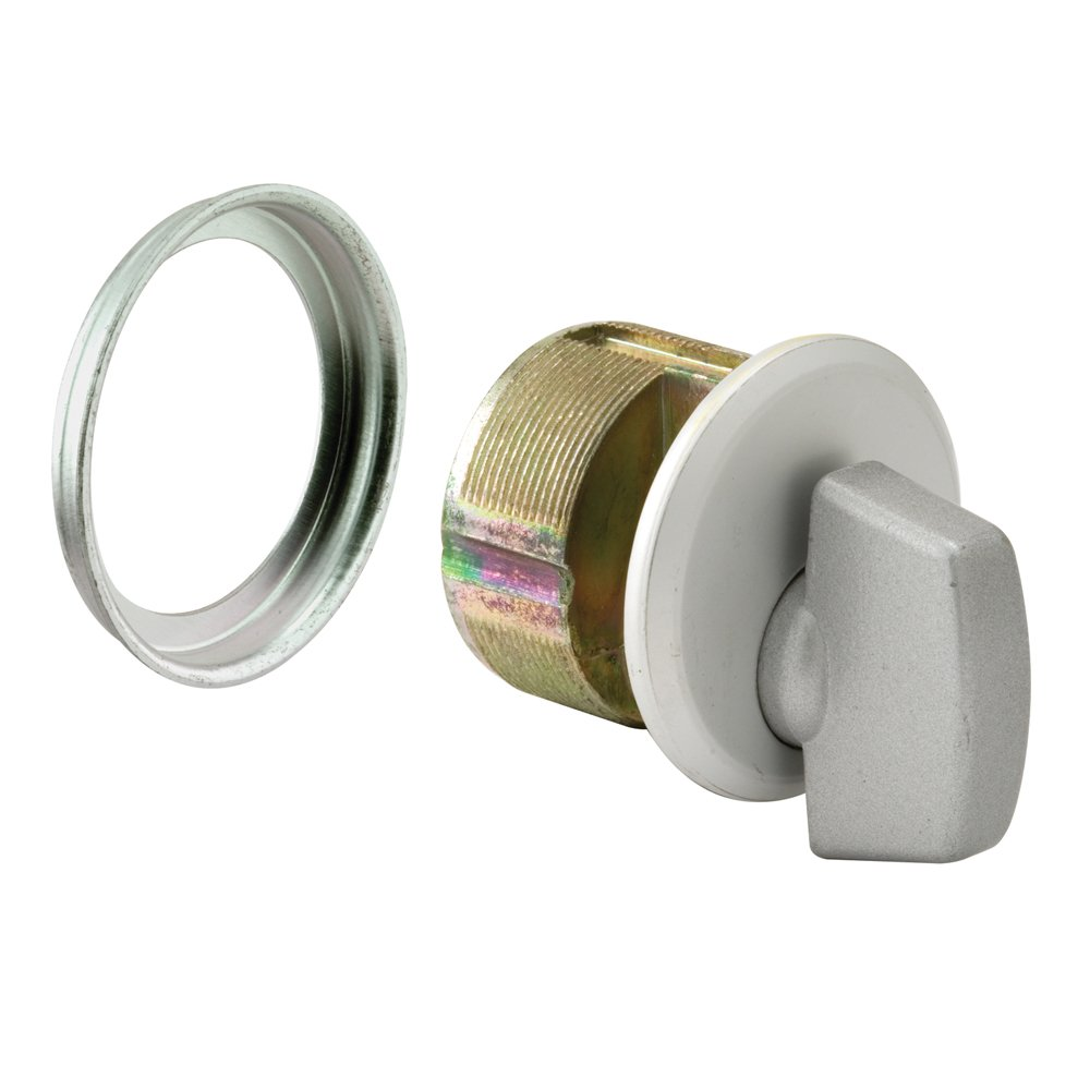 Prime-Line Products J 4530 Mortise Thumbturn, 1 in.,  Heavy Duty Pressure Cast Zamac, Aluminum Finish