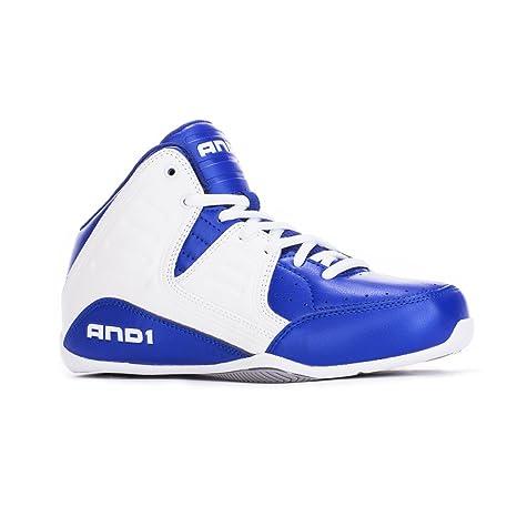 zapatilla baloncesto, And1, talla 35, blanco azul: Amazon.es ...