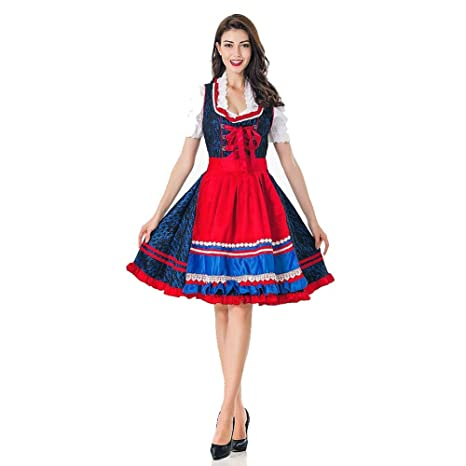 Traje para Mujer Adulto Oktoberfest Vestido Dirndl Sexy ...