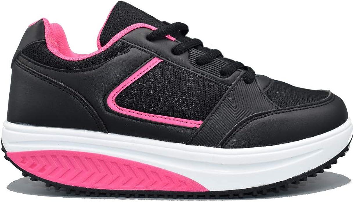 ETTES/® Scarpe Dimagranti Donna Vienna Rassoda Glutei Sportive Fitness Ginnastica Jogging Posturali per Camminare Comode Sneakers Sport