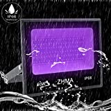 ZHMA 60W UV LED Black Light Flood Light with