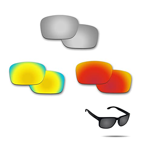 e485150f85ffe Amazon.com   Fiskr Anti-Saltwater Polarized Replacement Lenses for Oakley  Holbrook 3 Pair Pack   Sports   Outdoors