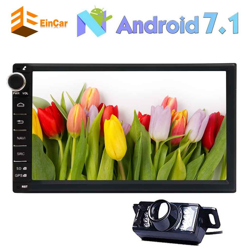 7'' EinCar Android 7.1 Car Stereo with Octa Core 32GB CPU HD Capacitive Touch Screen Car Radio GPS Navigation In Dash Bluetooth Multimedia Player Support Bluetooth/WiFi/OBD2+ Backup Camera