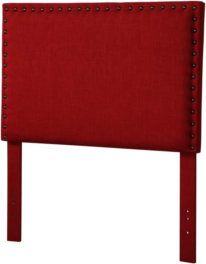 Acme Furniture 39117 Sabina Headboard Only, Queen Full, Red Linen