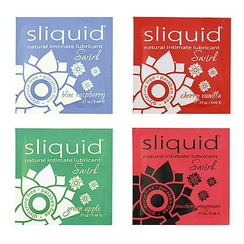 (Sliquid Naturals Swirl Pillow Lubricants-Blue Raspberry by)