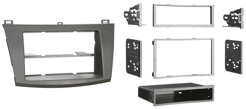 Metra 99-7514B Single or Double DIN Installation Dash Kit for 2010 Mazda 3, Painted Matte Black to Match Dash (Black) Metra Electronics Corporation