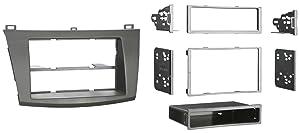Metra 99-7514B Single or Double DIN Installation Dash Kit for 2010 Mazda 3, Painted Matte Black to Match Dash (Black)