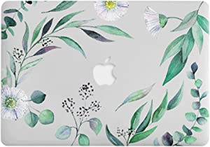 One Micron for MacBook Air 13 Inch Case Soft Touch Plastic Hard Matte Case Floral Pattern Scratch Guard Cover for MacBook Air 13''(A1369/A1466), Dandelion Green Leaves