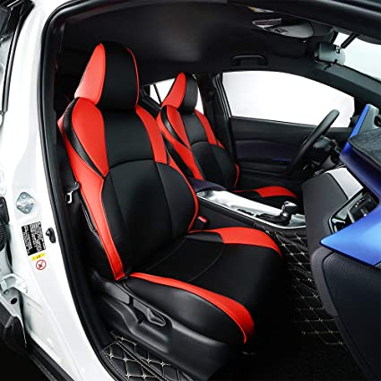 amazon com behave autos car leather seat covers fit toyota chr 2018behave autos car leather seat covers fit toyota chr 2018 2019 auto full set seat cushion
