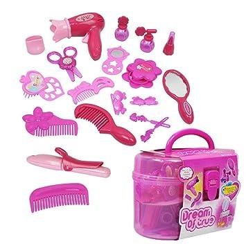 AOLVO - Juego de Maquillaje para niños - Kit de Maquillaje de Princesa para salón de