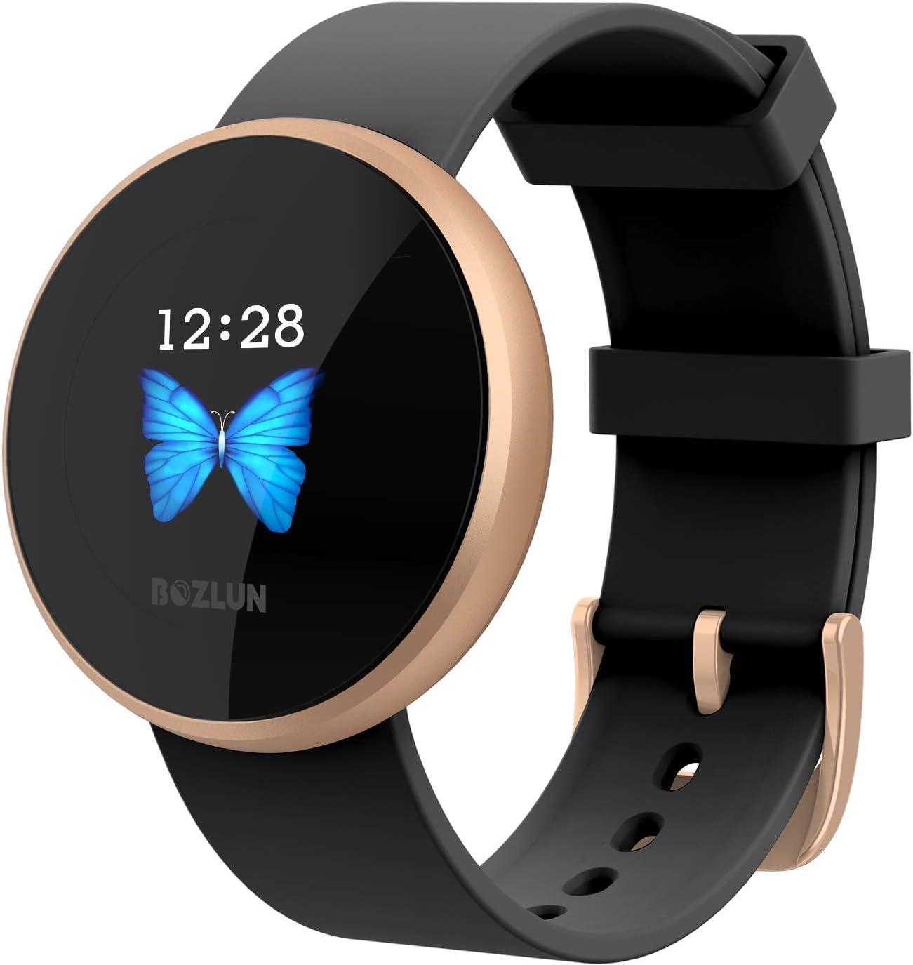 Smartwatch, Reloj Inteligente Mujeres Hombres Impermeable IP68, Pulsera de Actividad Inteligente Fitness Activity Tracker Podómetro para Android IOS (Negro)