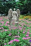 "Attraction Design Antiqued Metal Garden Angel, 32"" Height"