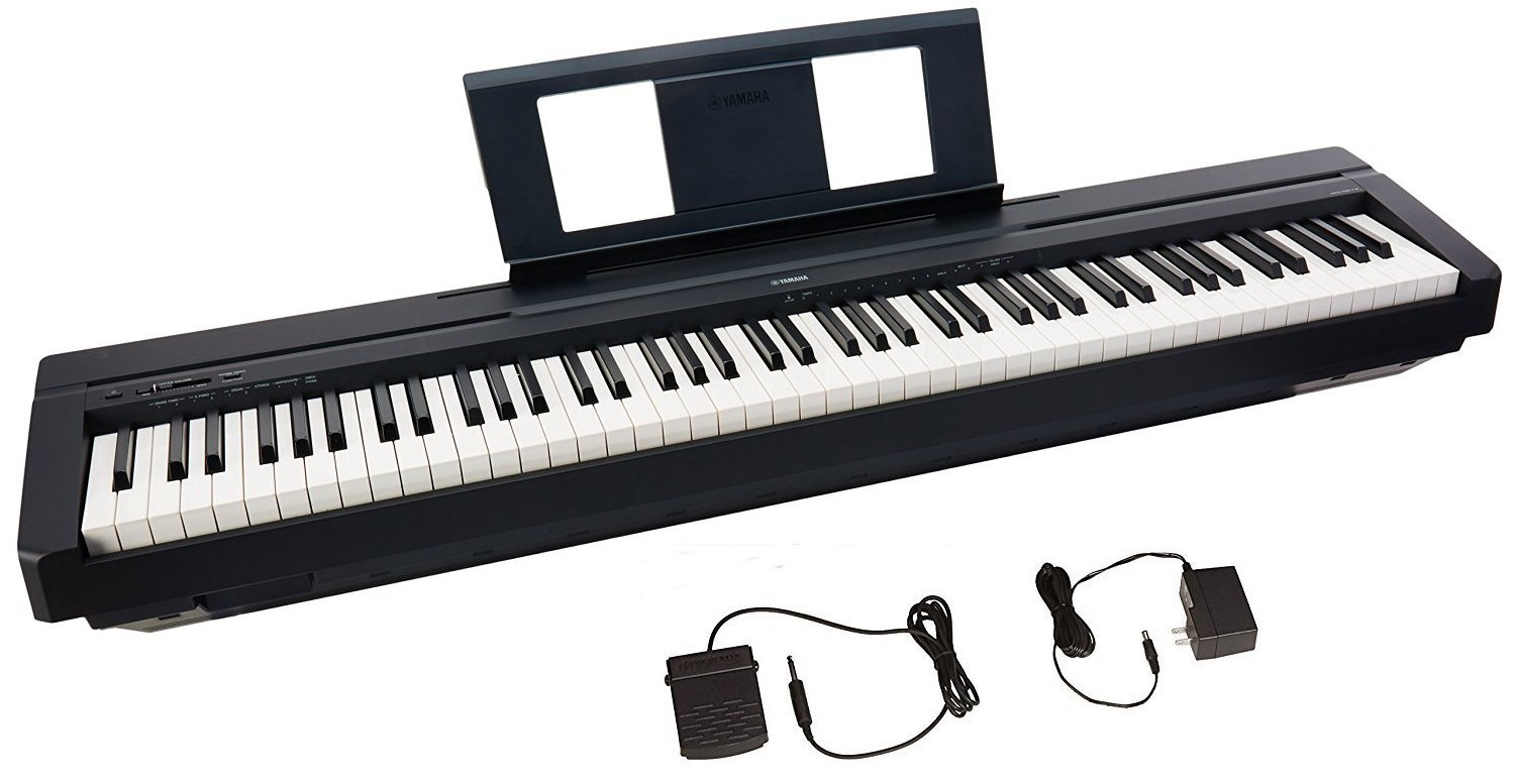 Yamaha P45 88-Key Weighted Action Digital Piano + Sustain Pedal and Power Supply (Renewed) by YAMAHA