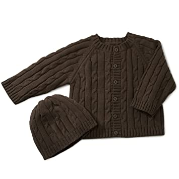 0260661d9aa2 Amazon.com  Elegant Baby 100% Cotton Cable Knit Sweater with Hanger ...