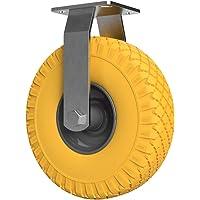1 x Niet-stuurbare zwenkwiel met polyurethaan wiel Ø 260 mm 3.00-4, PUNCTURE PROOF