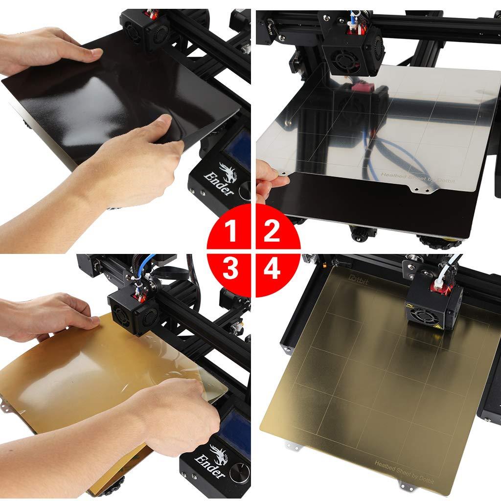 Gazechimp Plancha de Impresión Impresora 3D 300mm Hot Bed ...