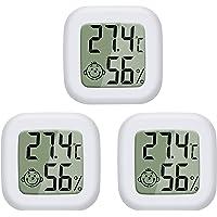 PAIRIER 3 Piezas Mini Termómetro Higrómetro Digital Monitor del Indicador medidor de Humedad para el Hogar Oficina Sala…