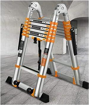 Articulación Grande Escaleras Telescópicas Espesar Aluminio Escalera Plegable Antideslizantes Multiusos Escalera Extensible Para Trabajos En Altura 01008 (Size : 1.7+1.7M): Amazon.es: Bricolaje y herramientas