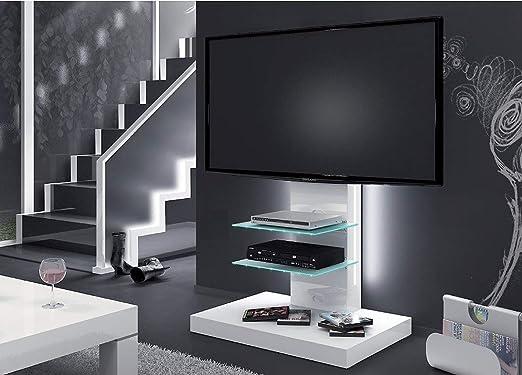 Design Fernsehtisch H 444 Weiss Hochglanz Tv Schrank Tv Mobel Tv Rack Lcd Inkl Tv Halterung Amazon De Kuche Haushalt