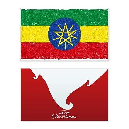 Rayas Bandera de Etiopía Crayon Dibujo de Navidad Feliz ...