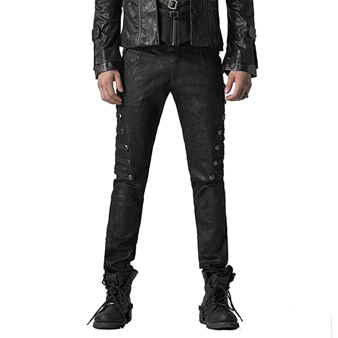 Amazon.com: Steampunk Cut Up bolsillo lateral jeans Rivet ...