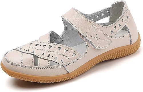 Klsyo Women's Closed Toe Sandals Summer