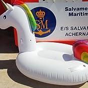 FEMOR Flotador Unicornio Gigante, Unicornio Hinchable, Colchonetas ...