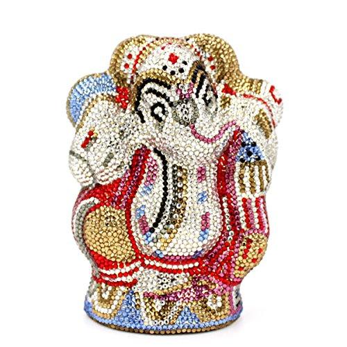 Donne Borse sera Luxury Strass Elephant Signori Arte preferito borsetta party di nozze portamonete frizione telaio metallico