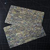 PAUA Heart abalone shell inlay veneer 9.5 x 5.5 x 0.006 inch
