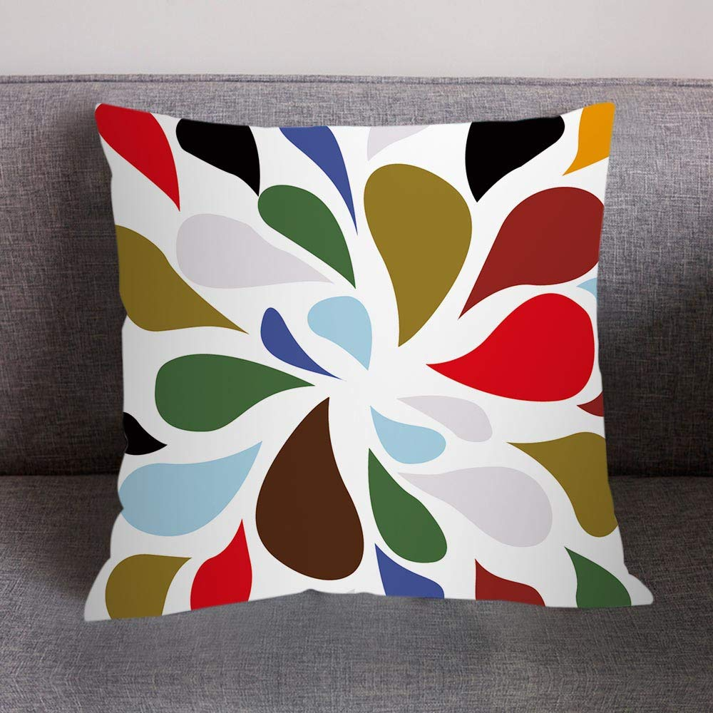 NUWFOR Print Pillow Case Polyester Sofa Car Cushion Cover Home Decor(H) by NUWFOR (Image #2)