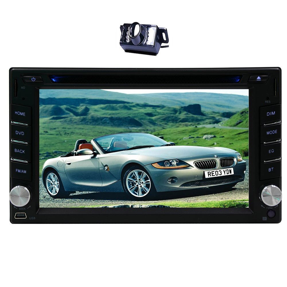 Eincar 7 Inch Touch Screen Double Din Car Stereo With Bluetooth GPS Navigation MP5 Player HD Radio Support Mirror Link USB SD 1080P Video Play AUX FM AM SWC + Free Rear Camera Included! EGood CO. LTD. pTH.MP5.8D33GNN+YCAM