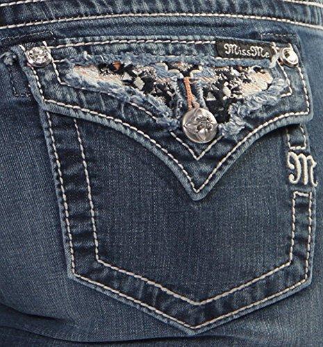 Miss Me Women's Candy Ikat Insert Boot Cut Jean (28)