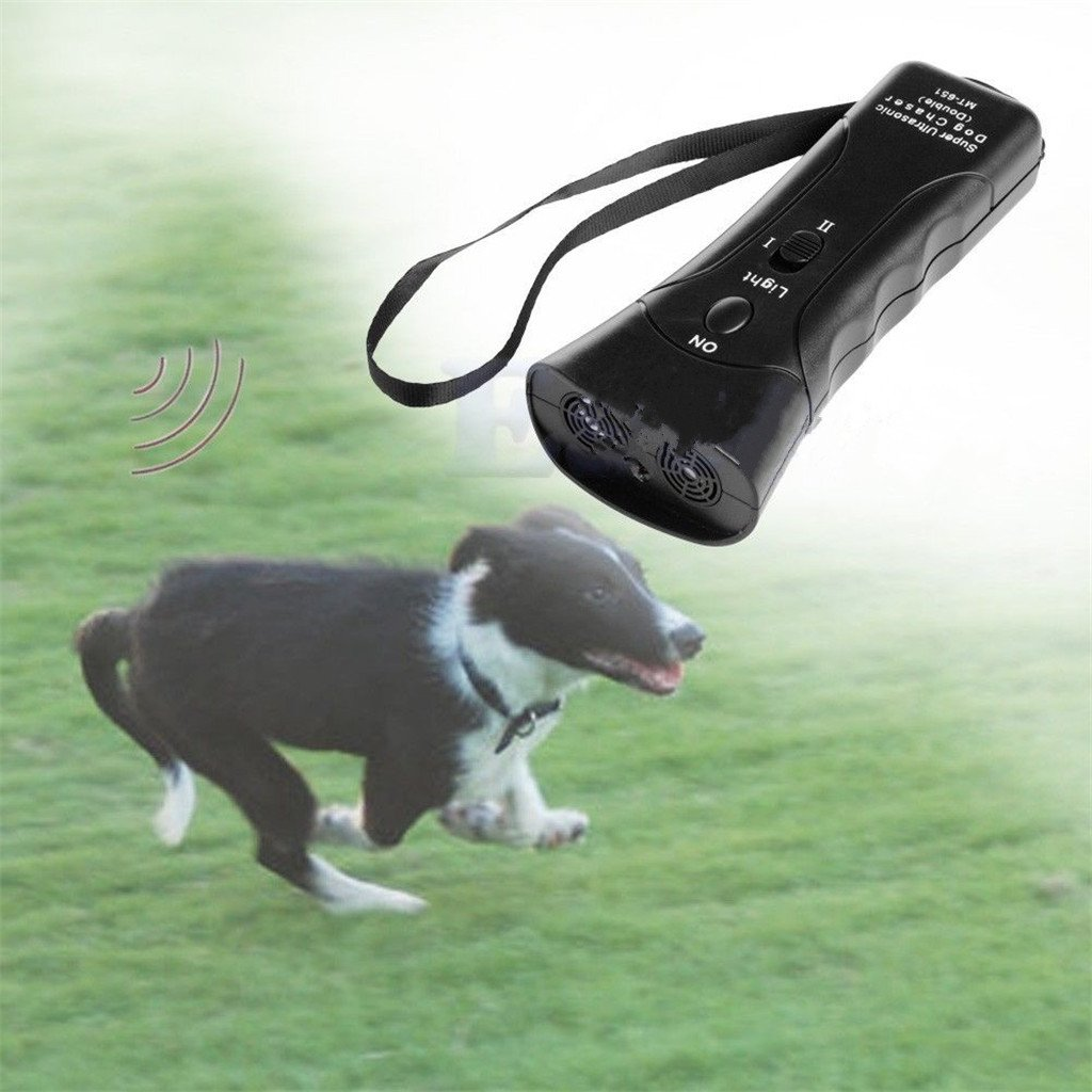 Runrain à ultrasons Dog Chaser Stop Agressifs Animal attaques Répulsif Lampe de Poche