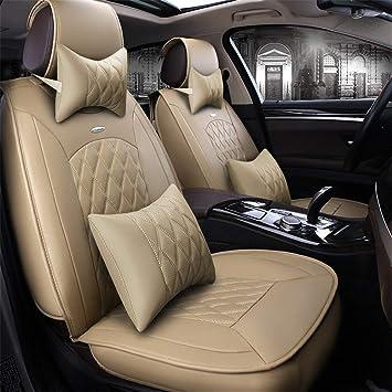 Amazon.com: HZLX Cinco Cojín de asiento de coche universal y ...
