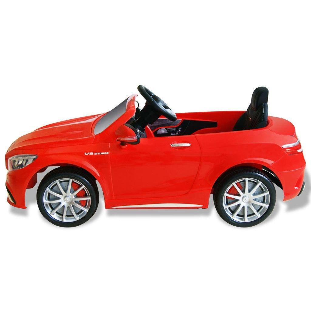 vidaXL Elektroauto Mercedes Benz AMG S63 Rot 12V Kinderauto Kinderfahrzeug# Kinderfahrzeuge