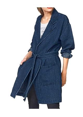78550c8cfef7c0 Marken Jeans-Mantel Damen-Mantel blau (S): Amazon.de: Bekleidung