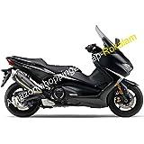 Carenado para motocicleta Yamaha TMAX530 17 18 TMAX 530 T MAX 530 2017 2018 negro brillante y negro mate (moldeado por inyección)