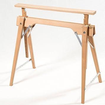 Tischbock Baumarkt tischbock in buche höhenverstellbar ca 64 105 cm