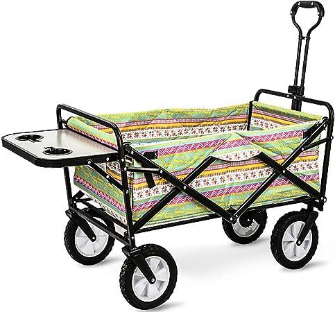 GARDEN CAR ZLMI Carro de jardín Multi-función de Gran Capacidad de Camping remolques para Mascotas Tiendas de comestibles Carrito de la casa Tire del Carro (con la Tabla),B: Amazon.es: Hogar