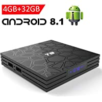 Android 8.1 TV Box with 4GB RAM 32GB ROM, EASYTONE 2019 New Android TV Box Quad Core/ 64 Bits/ BT4.0/ H.265/ 3D UHD 4K Smart Internet TV Box
