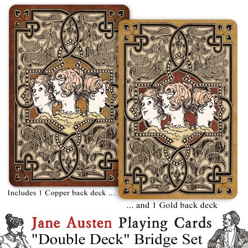 Jane Austen ''Double Deck'' Playing Card Set by Prospero Art