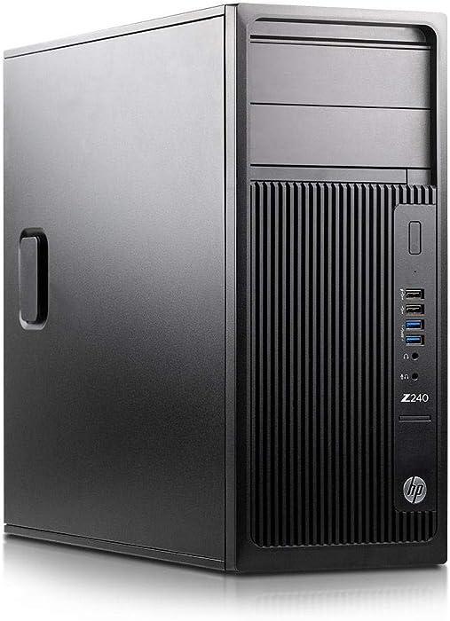 HP Z240 Tower Workstation Gaming PC, Intel Core i7-6700 up to 4GHz, 16GB DDR4 RAM, 256GB SSD & 2TB HDD, USB 3.0, NVIDIA GeForce GTX 1650 4GB, HDMI, Display Port, DVI, WiFi BT 4.0 Windows 10 (Renewed)
