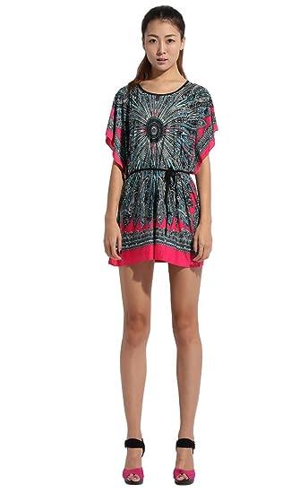 Amazon 2014 Summer Vintage Bohemian Casual Dresses Womens Plus