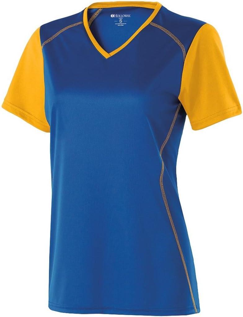 Holloway Ladiesピストンdry-excelシャツ ロイヤル/ライトゴールド 3L