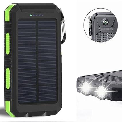 Amazon.com: Cargador solar, Solar Power Bank Batería de ...