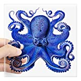 """perfect octopus wall decals CafePress Blue Octopus Square Sticker 3"""" X 3 Square Bumper Sticker Car Decal, 3""""x3"""" (Small) 5""""x5"""" (Large)"""