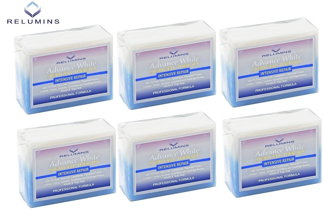 Relumins Advance Whitening Soap With Intensive Skin Repair & Stem Cell Therapy (6 Soaps)