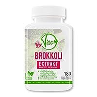 MeinVita Brokkoli Extrakt - 180 hochdosiert- 100% VEGAN Kapseln - Sulforaphan, - Bioaktiv - 1000 mg (Tagesportion) - Premium Qualität